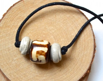 Necklace for Men - Handcrafted Beads - Tribal Style - Handmade