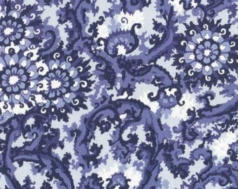 DEARSTELLADESIGN Heirloom China Blue patchwork fabric