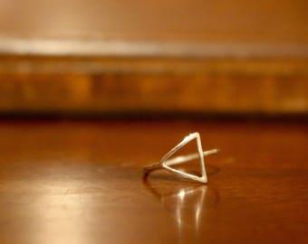 Argentium Triangle Ring