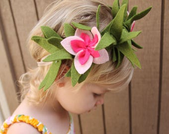 Moana Hawaiian Flower Crown Pink Plumeria