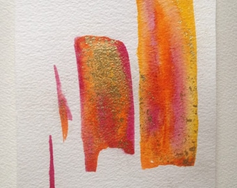 Watercolor red, orange, yellow