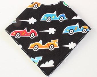 baby bandana bib - fast cars