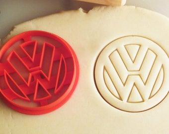 VW Volkswagen Emblem Badge Logo Cookie Cutter