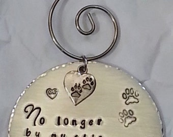 Memorial Pet Ornament - Christmas Ornament - Holiday Ornament - Christmas Decoration - Pet Memorial Keepsake Gift - In Memory Of Loss Of Pet