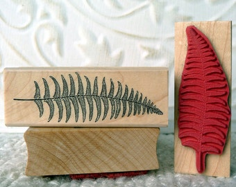 Small Fern rubber stamp from oldislandstamps