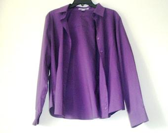 Purple  blouse-  Woman Top -Size M-L