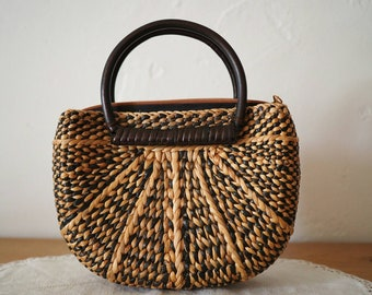 Vintage Basket Bag - Small Basket Bag