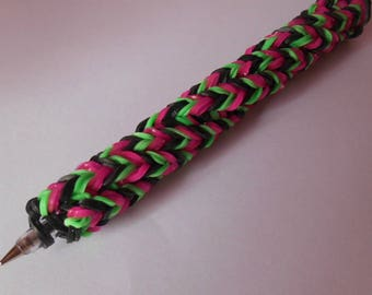 Rainbow loom pen funky girl