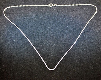 Silver chain in sterling silver