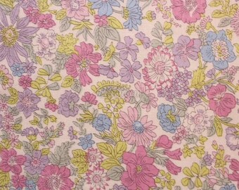 SALE - Liberty tana lawn printed in Japan - Emily - Pink purple mix ( Reduced )
