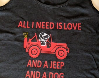 Snoopy Jeep shirt