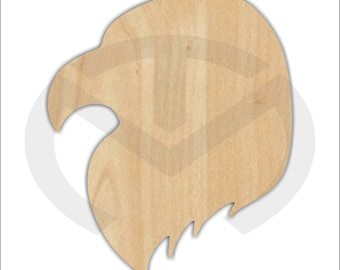 Unfinished Wood Eagle Head Shape Laser Cutout, Wreath Accent, Ready to Paint and Personalize, Various Sizes