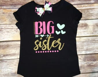 Big Sister Shirt | Promoted To Big Sister | Baby Shower Shirt | Sibling Shirt