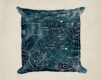 Scorpius Constellation, Stars Map pillow , Zodiac, Space decorative, home decor,