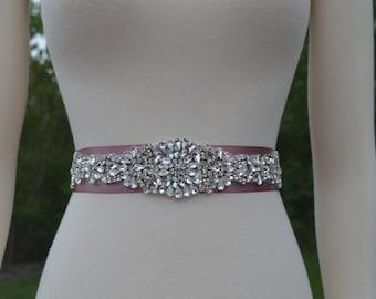 Brauthochzeits -Schärpe Strass Kristall Wählen Sie Farbe Band