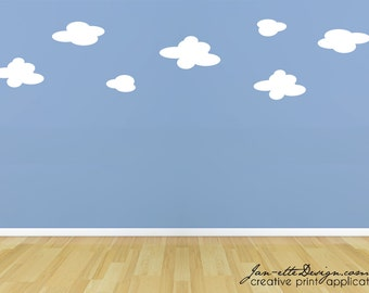 Kids Cloud Wall Decals,Removable Fabric Wall Decals