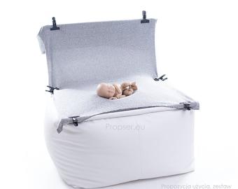 Bean Bag Poser Photo Prop Newborn Photography Bean bag -Big + frame  Mast have in small newborn studio !!!