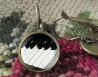 Piano Keys Earrings, Music Earrings/Jewelry, Piano Jewelry, Piano Gift, Gift, Music Gift