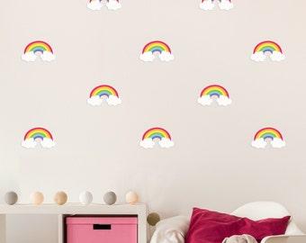 Mini Rainbow Wall Decals - Fabric & Reuseable