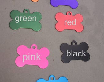 Pet tags customized personalized 2 sided