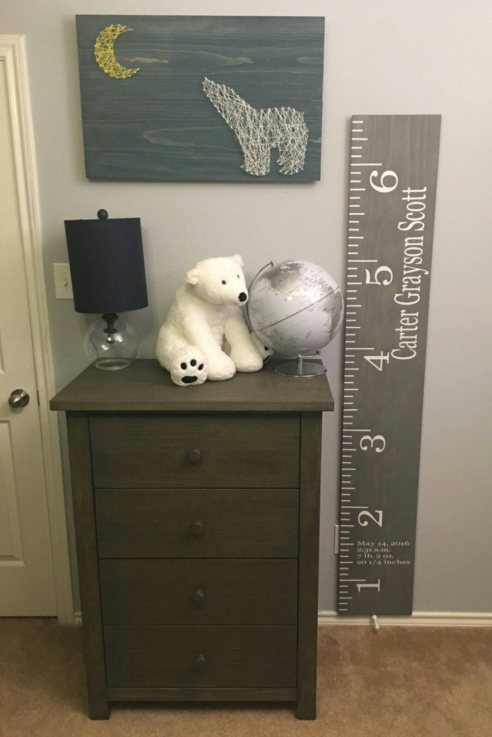 Wooden growth chart customized growth height chart for request a custom order and have something made just for you nvjuhfo Choice Image