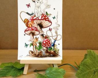 Animals in Wonderland - Mini Fine Art Print