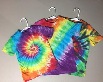 Tie Dye Toddler Tshirts, Rainbow Designs