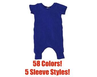 Solid Pant Romper (Solid Romper,Baby Romper,Infant Romper,Toddler Romper,Kids Romper,Coverall Romper,Harem Romper,Pull On Romper)