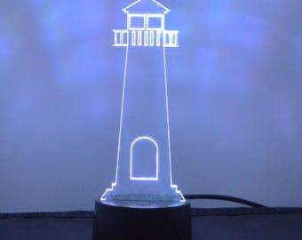 Lighthouse Colour Changing LED Acrylic Light
