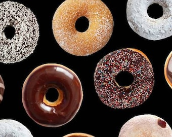 Donut Cotton Quilting Fabric from Foodie by Timeless Treasures Collection