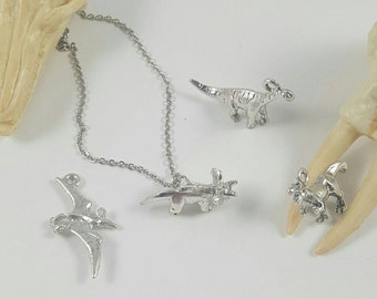 Dinosaur Necklace, T Rex Necklace, Triceratops Necklace, Pterodactyl Necklace, Brontosaurus Necklace