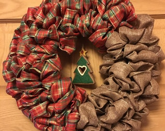 12 in round Christmas wreath