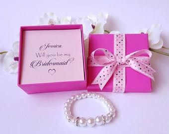 WEEKEND SALE Flower girl  bracelet Bridesmaids Jewelry Personalized Bridesmaid Gift wedding bracelet bridal jewelry wedding accessories