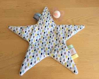 Star comfort toy with ribbons