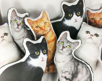 Custom Pet Pillow Custom Cat Pillow best cat lover gifts shape cat plush pillow dog photo dog pillow pet photo pillow pet loss cat lady gift