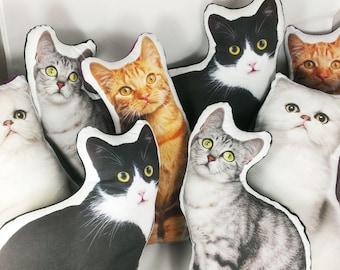 Custom Pet Pillow Custom Cat Pillow best cat lover gifts shape cat plush pillow dog photo dog pillow pet photo pillow pet loss cat lady gift