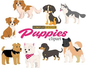 Puppy clipart, Dog clipart, Pet clipart, Dog clip art, Puppies clipart, Puppy clip art, Cute puppy clipart,  Cute dog clipart