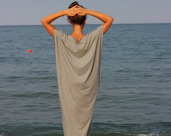 Grey Maxi dress, Caftan, Kaftan, Plus size clothing, Long dress, Casual dress, Day dress, Plus size dress, Summer dress