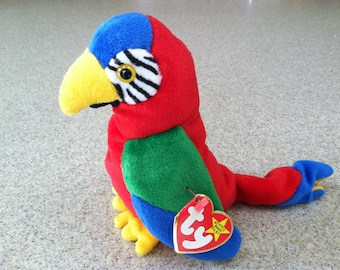 Vintage Ty Jabber the Parrot Beanie Baby