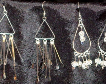 Long silver dangles