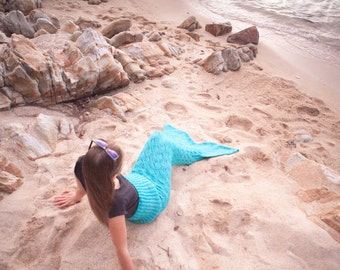 Mermaid Tail KNITTING Pattern, Children's and Adult Sizes S-XL Included, INSTANT Download
