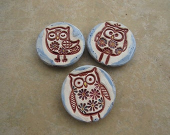 Owls Refrigerator Magnets, Essential Oils Diffuser Magnets, Owl Fridge Magnets, Ceramic Magnets Set, Kitchen Magnets Set, Aromatherapy
