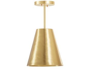 Bucket Pendant in Brass