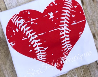 Distressed Heart Baseball Laces