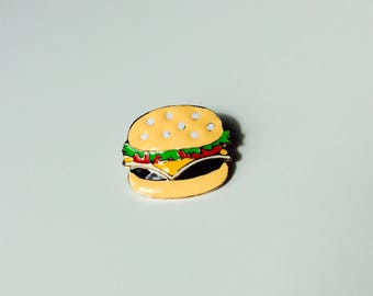 Sale | Burger | Fast Food | Food | Pin | Badge | Retro | Hipster | Upcycle | Accesory | Modify