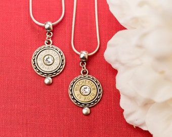 Bullet Casing Jewelry - Circle Dot Bullet Necklace (45)