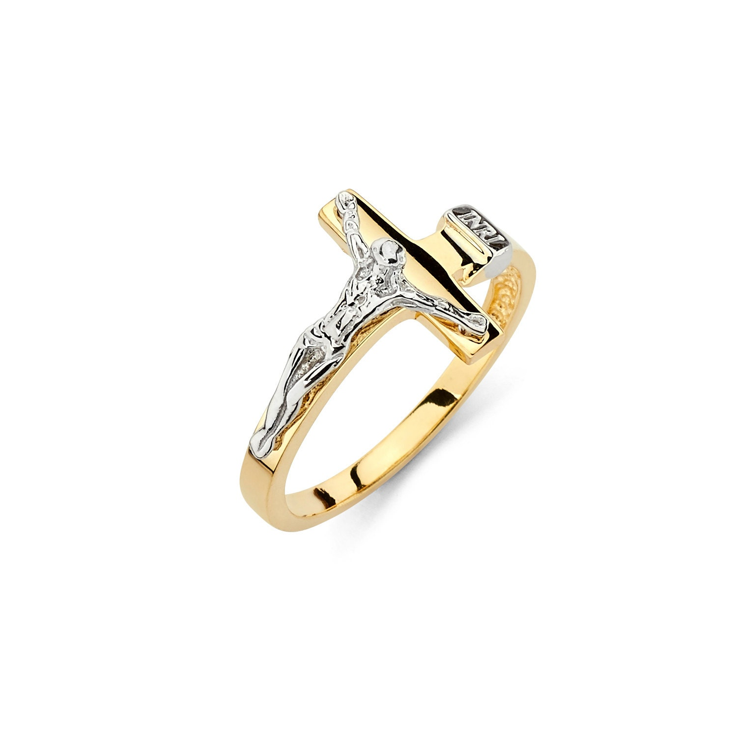 cross nugget diamond grams solid long yellow large gold new cut crucifix rings product