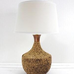 Mid Century Modern Cork Large Lamp Oversized