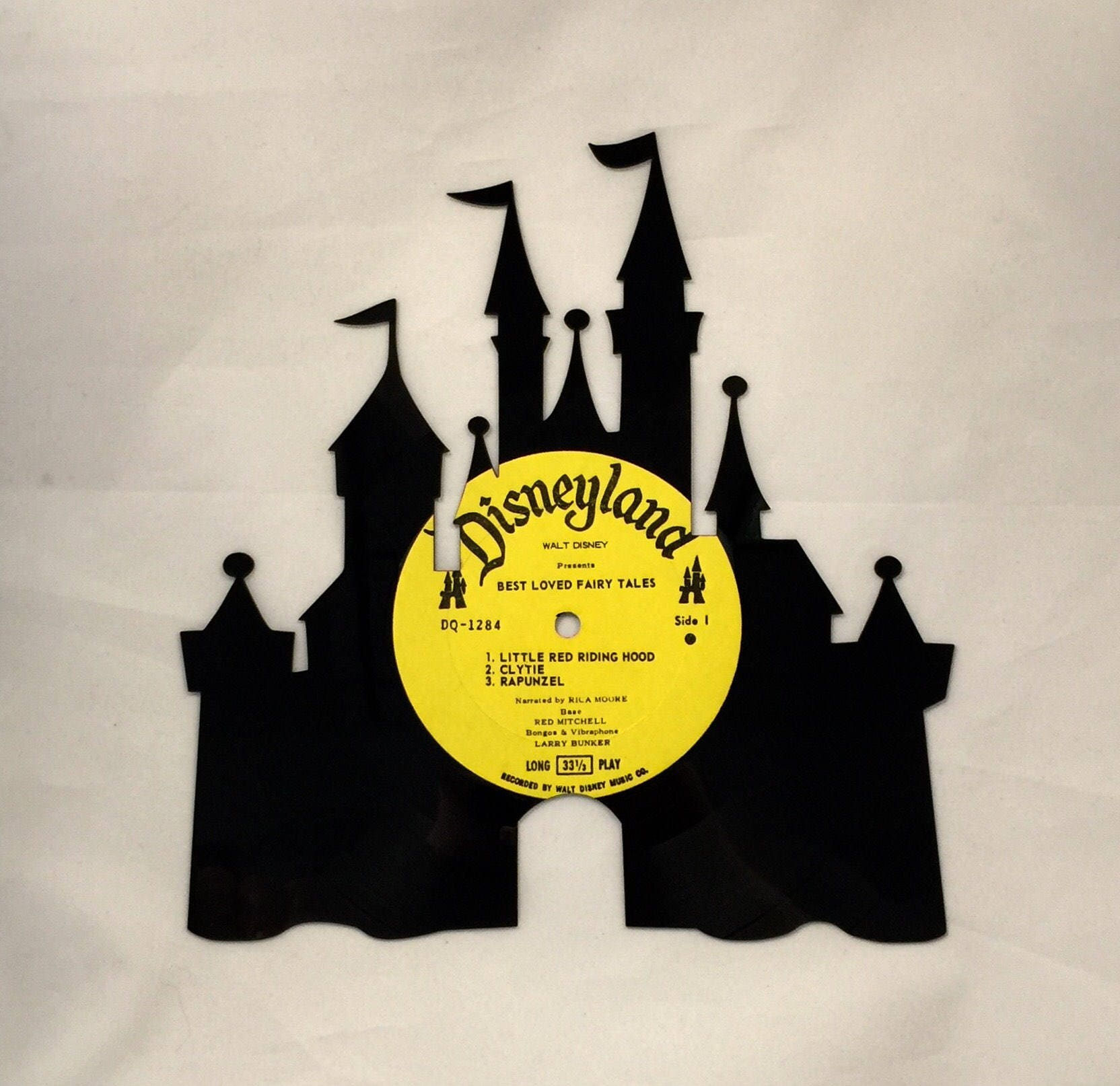 Recycled Vinyl Record Magic Kingdom Castle Wall Art