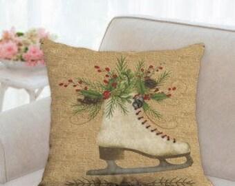 Christmas Skate Pillow